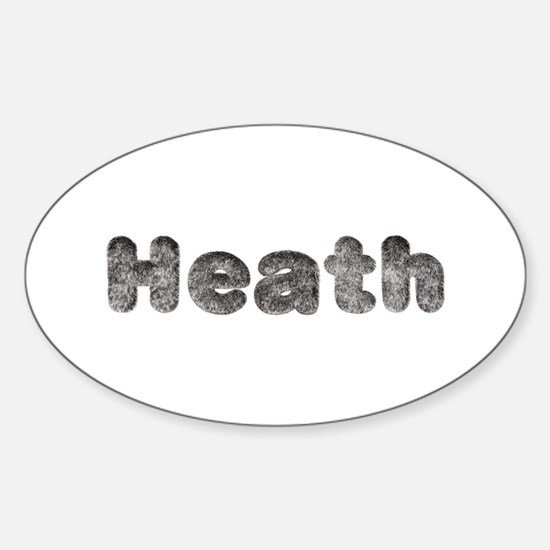 Heath Wolf Oval Decal