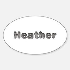 Heather Wolf Oval Decal