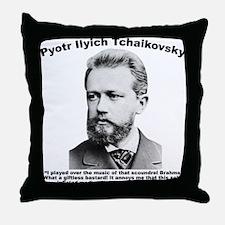 Tchaikovsky: Brahms Throw Pillow