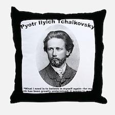 Tchaikovsky: Believe Throw Pillow