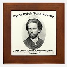 Tchaikovsky: Believe Framed Tile