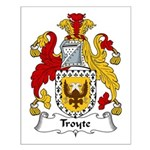 Troyte Family Crest Small Poster