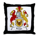 Troyte Family Crest Throw Pillow