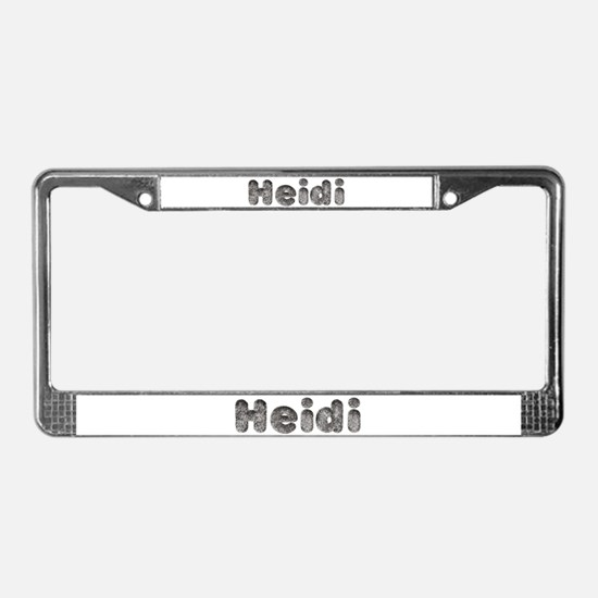 Heidi Wolf License Plate Frame