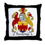 Trowbridge Family Crest Throw Pillow