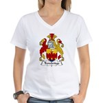 Trowbridge Family Crest Women's V-Neck T-Shirt
