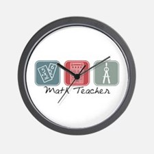 Math Teacher (Squares) Wall Clock