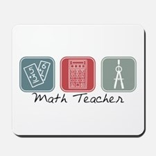 Math Teacher (Squares) Mousepad