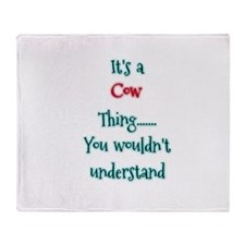 Cow Thing Throw Blanket