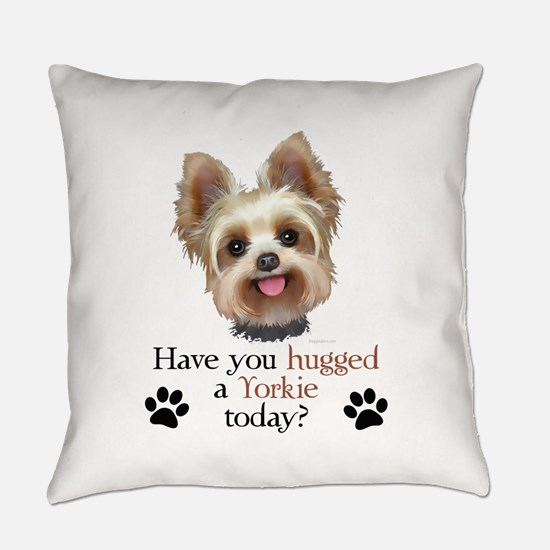 Yorkie Hug Everyday Pillow