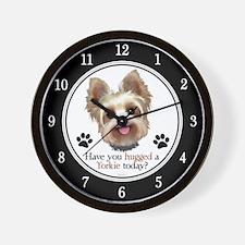 Yorkie Hug Wall Clock