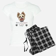 Yorkie Hug Pajamas