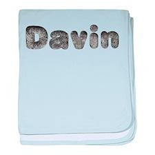 Davin Wolf baby blanket