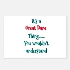 Great Dane Thing Postcards (Package of 8)