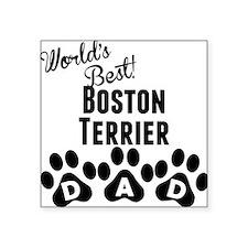 Worlds Best Boston Terrier Dad Sticker