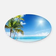 Paradise Corner Oval Car Magnet