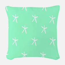 Starfish on Seafoam Woven Throw Pillow