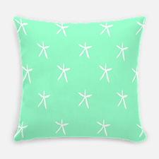 Starfish on Seafoam Everyday Pillow