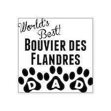 Worlds Best Bouvier des Flandres Dad Sticker