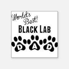 Worlds Best Black Lab Dad Sticker