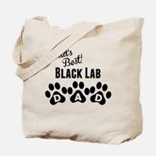 Worlds Best Black Lab Dad Tote Bag