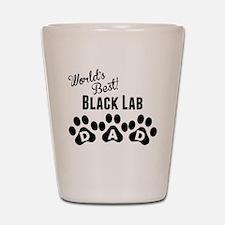 Worlds Best Black Lab Dad Shot Glass
