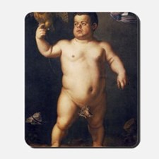 Portrait of the Dwarf Morgante by Bronzi Mousepad