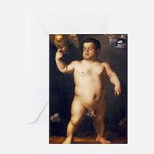 Portrait of the Dwarf Morgante by Br Greeting Card