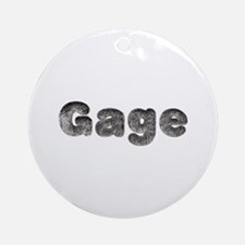 Gage Wolf Round Ornament