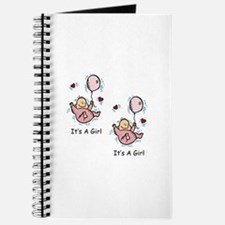 Twin Girl Baby Announcement Journal