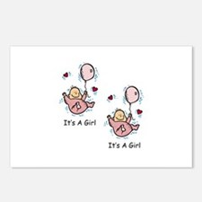 Twin Girl Baby Announcement Postcards (Package of