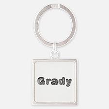 Grady Wolf Square Keychain