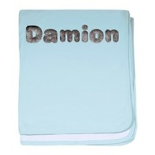 Damion Wolf baby blanket
