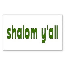 Rosh Hashanah Shalom Y'all Rectangle Decal
