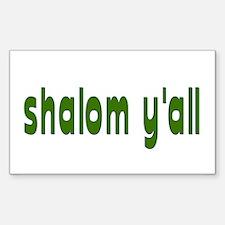 Rosh Hashanah Shalom Y'all Rectangle Decal