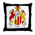 Trott Family Crest Throw Pillow