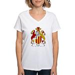 Trott Family Crest Women's V-Neck T-Shirt