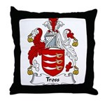 Tross Family Crest Throw Pillow