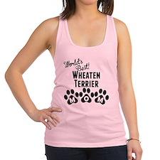 Worlds Best Wheaten Terrier Mom Racerback Tank Top