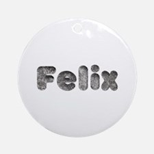 Felix Wolf Round Ornament