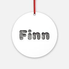 Finn Wolf Round Ornament