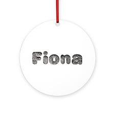 Fiona Wolf Round Ornament