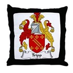 Tripp Family Crest Throw Pillow