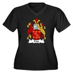 Tripp Family Crest Women's Plus Size V-Neck Dark T