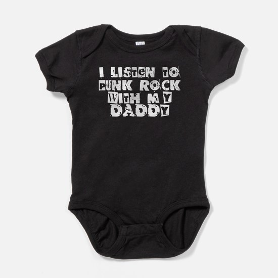 Punk Rock With My Daddy Baby Bodysuit