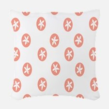 Rose Sand Dollars Woven Throw Pillow