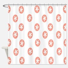 Rose Sand Dollars Shower Curtain