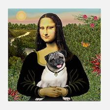 Mona's Fawn Pug Tile Coaster