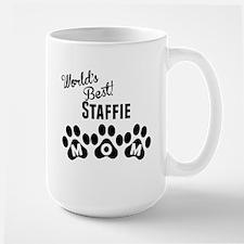 Worlds Best Staffie Mom Mugs