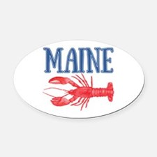 Maine Lobster Oval Car Magnet